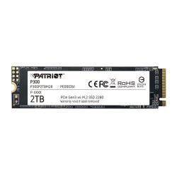 Image of Patriot Memory P300. Capacità SSD: 2000 GB, Fattore di forma dell'unità SSD: M.2, Velocità di lettura: 2100 MB/s, Velocità di scrittura: 1650 MB/s, Componente per: PC/PC portatile