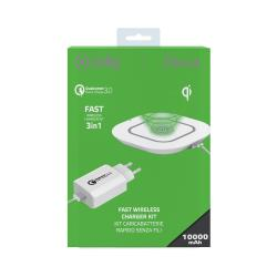Image of CELLY KIT 3 IN 1 WLPAD QC30 CABLE WH
