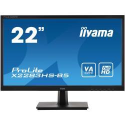 Image of Monitor TFT, 16:9, 54,6 cm (21,5''), Risoluzione: 1920x1080 pixel, VESA Mount (100x100 mm), 4ms, Luminosit?: 250cd, Angolo di visuale: 178/178?(H/V), Contrasto: 3000:1, Audio, VGA, Display-Port, HDMI, incl.: Cavo (HDMI), Alimentatore, Cavo di alimentazion