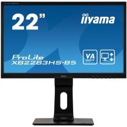 Image of Monitor TFT, 16:9, 54,6 cm (21,5''), Risoluzione: 1920x1080 pixel, VESA Mount (100x100 mm), piede regolabile, 4ms, Luminosit?: 250cd, Angolo di visuale: 178/178?(H/V), Contrasto: 3000:1, Audio, VGA, Display-Port, HDMI, incl.: Cavo (HDMI), Alimentatore, Ca