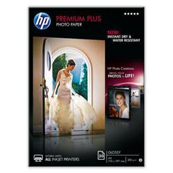 Image of ORIGINAL HP Carta bianco CR672A Premium Plus 20 fogli, DIN A4, premio più carta fotografica lucido