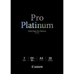 Image of ORIGINAL Canon Carta Bianco 2768B016 PT-101 Carta fotografica, DIN A4, 300 g/m², 20 fogli, Pro Platinum
