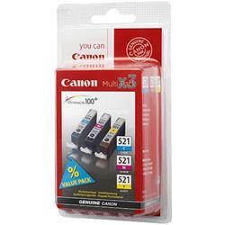 Image of CANON £CLI-521 PACK 3 SERBATOI C/M/Y