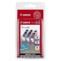 Image of CANON £CLI-8 PACK DA 3 SERBATOI C/M/Y