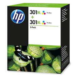 Image of ORIGINAL HP Multipack differenti colori D8J46AE 301 XL 2 x HP 301 XL colore