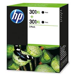 Image of ORIGINAL HP Multipack nero D8J45AE 301 XL 2 x HP 301 XL nero
