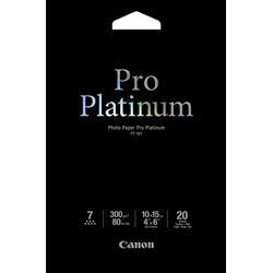 Image of ORIGINAL Canon Carta Bianco 2768B013 PT-101 Carta fotografica, 10 x 15 cm, 300 g/m², 20 fogli, Pro Platinum