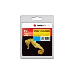 Image of ORIGINAL Agfa Photo Cartuccia d'inchiostro ciano APET071 T089CD Agfa Photo ~345 Seiten 10ml Agfa Photo T0712 / T0892 (C13T07124011 / C13T08924011)