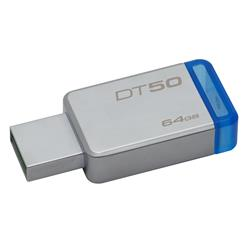 Image of KINGSTON 64GB USB 3.0 DATATRAVELER 50 METAL BLUE