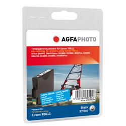 Image of ORIGINAL Agfa Photo Cartuccia d'inchiostro nero APET061BD Agfa Photo ~250 Seiten 12ml Agfa Photo T0611 (C13T06114010)