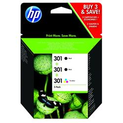 Image of ORIGINAL HP Multipack nero / differenti colori E5Y87EE 301 3x cartucce HP 301: 2X CH561EE + 1x CH562EE